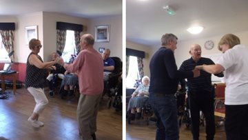 Exciting entertainment at Glasgow care home