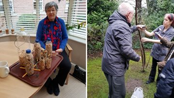 Eagle-eyed Residents at a HC-One care home celebrate 40 years of the Big Garden Birdwatch