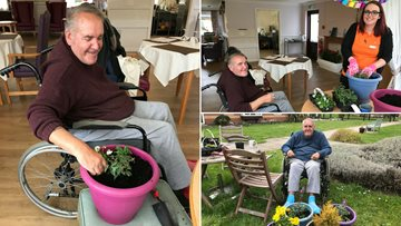 Residents at Gallions View create a memory and sensory garden