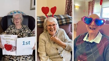 Falkirk care home receive Valentine's Day cards from local schoolchildren