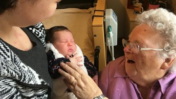 Residents welcome two week old Mia to Chaseview