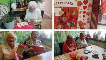 Residents prepare for Valentine's Day at Huddersfield care home