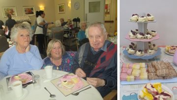 50th wedding anniversary celebrations at Swansea care home