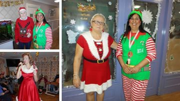 Christmas celebrations at Sherwood care home