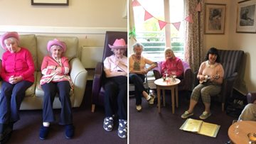 Edinburgh care home raise money for Breast Cancer Now