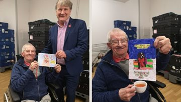 Kirkcaldy care home Resident helps MP choose Christmas card competition winner