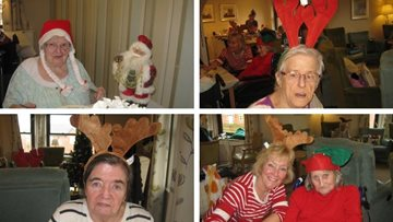 Residents get into the festive spirit as Hinckley care home decks the halls