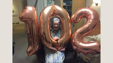 102 birthday candles at Hebburn care home