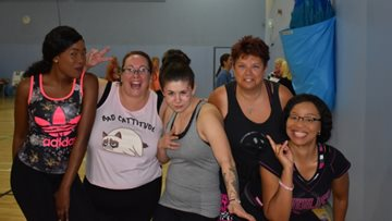 Hinckley care home staff take part in local Zumbathon