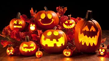 Pumpkin carving fun for Halloween at Wigston care home