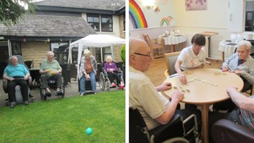 Games afternoon at Roundhay care home