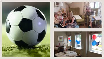 Football fever takes over Hinckley care home