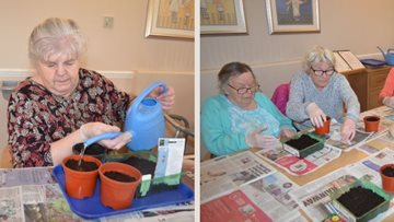 Hayes care home Residents begin gardening club