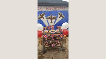 VE celebrations at Callands care home
