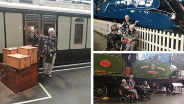 Goole care home Residents take a journey back in time at York Railway Museum