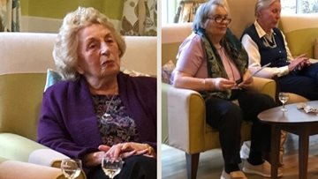 Party time at East Grinstead care home