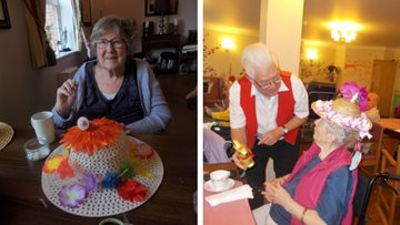 Egg-cellent Easter fayre at Great Easton care home