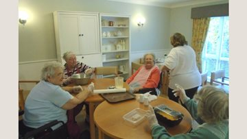 Baking session prompts reminiscent session for Residents