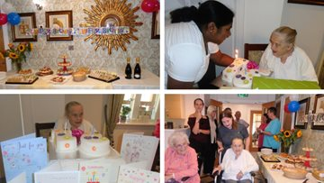 Resident celebrates 91st birthday at Mayford care home