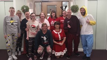 Christmas Eve at Dumbarton care home