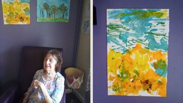 Mansfield care home holds lockdown exhibition for Residents art work