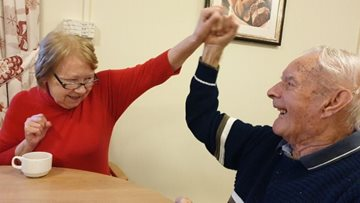 Residents enjoy traditional games afternoon at Worsley care home