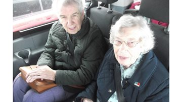 Residents enjoy a bus trip to Roker Beach