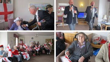 St George's Day celebrations at Guisborough care home