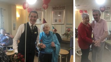 Love is in the air at Meadowlands care home