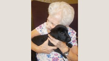 Puppy love at Garforth care home