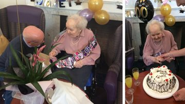 Surprise party for centenarian at Edinburgh care home