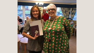 Falkirk care home celebrates 20 years' service of dedicated Housekeeping Assistant