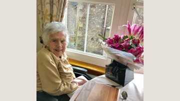 Birthday celebrations at Crieff care home