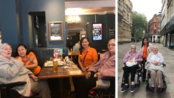 Residents enjoy retail therapy at Cardiff care home