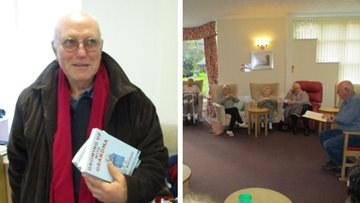 Published author visits Residents at Harley Grange care home