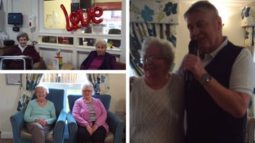 Love is in the air at Greenock care home