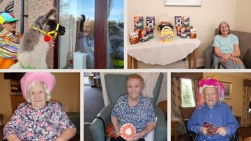 A fun Easter weekend is no probllama at Grimsby care home