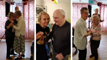 Hollymere Residents dance the afternoon away