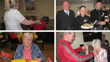 Stirling care home celebrates Burns Night