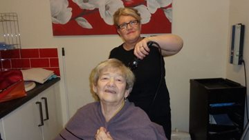 Former hairdresser offers helping hand at Stanley care home