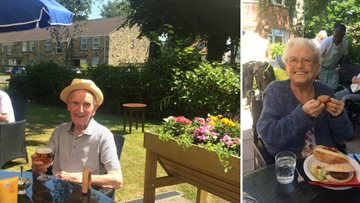 BBQ completes a perfect summer day for Harrogate care home