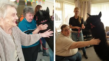 Residents enjoy visit from adorable furry friends at Sheffield care home