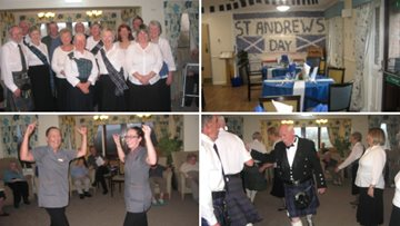 Kildean care home host St Andrew's Day celebrations