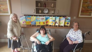 Lostock Gralam Care Home Residents Get Artistic