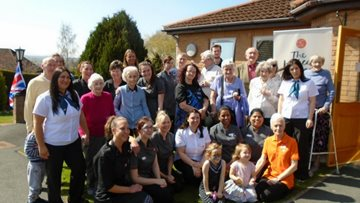 MP visits care home local open day