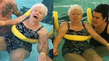 Lilian's wish to swim granted by Victoria Park