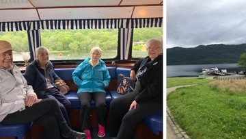 Falkirk care home Residents explore Loch Lomond