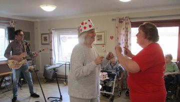 Valentine's Day celebrations at Chelmsford care home