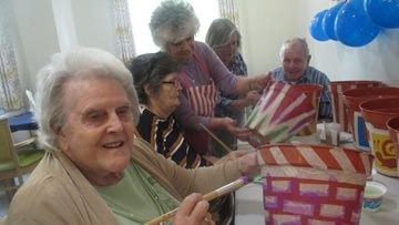 Green-fingered Residents channel their inner artists at Swansea care home
