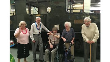 Residents take a trip back in time to Stephenson's Railway Museum